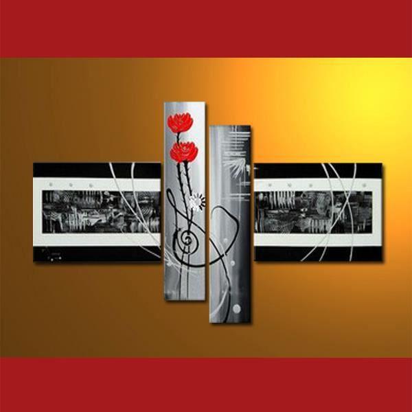 Triptyque moderne tableaux abstraits tableaux contemporain for Tableau moderne deco interieur