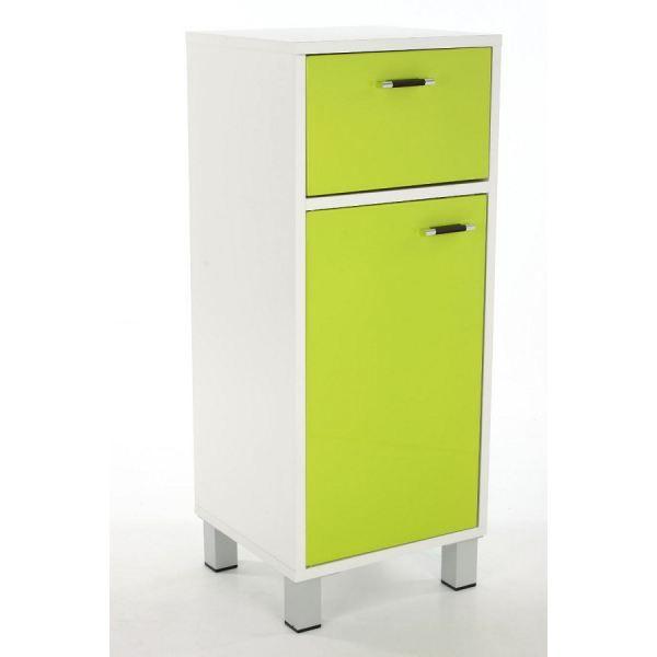 Meuble bas salle de bain vert achat vente salle de for Meuble tiroir salle de bain
