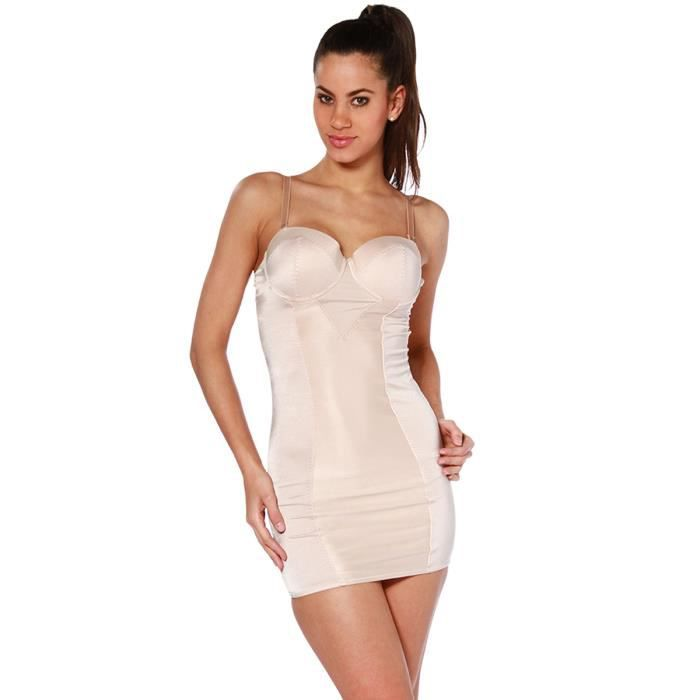 52e384c48411 Fond de robe gainant - BEIGE Beige - Achat   Vente gaine ...