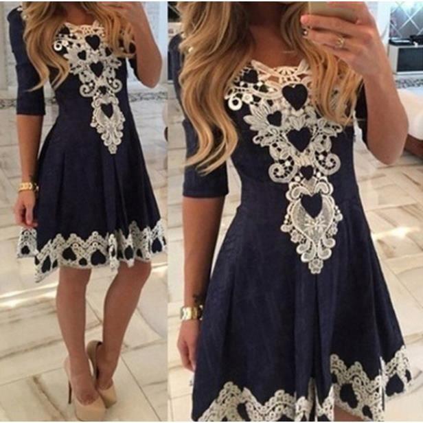 A-line robe pleine dentelle vestidos