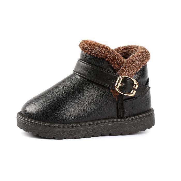 Enfants Chaussures bottine Bébé Garçon filles Mode Bottes de neige aed29