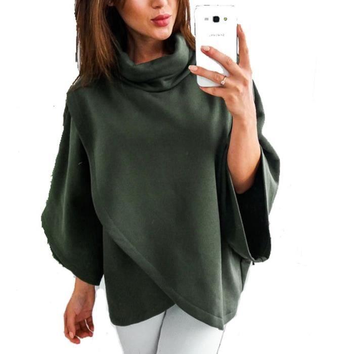 Vert Coton Foncé Manteau Roulant Montant Court Col Femme En Forme pOUrU4wqRn