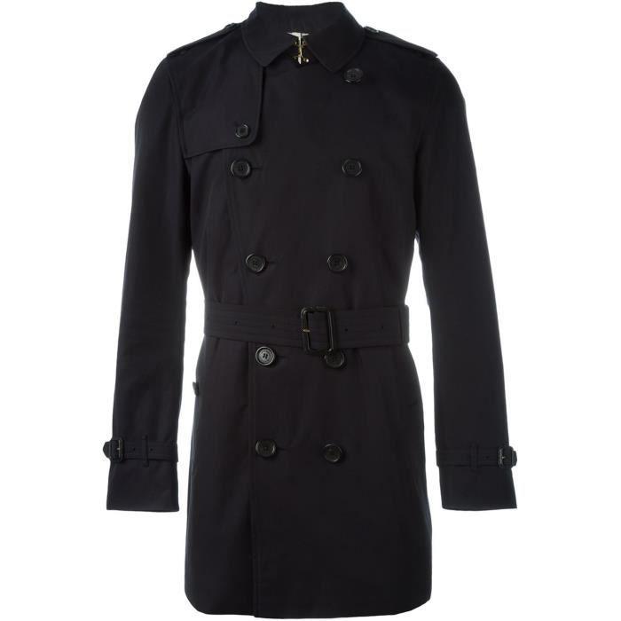 BURBERRY HOMME 3997737 NOIR TRENCH COAT Noir Noir - Achat   Vente ... 33a01a978ab