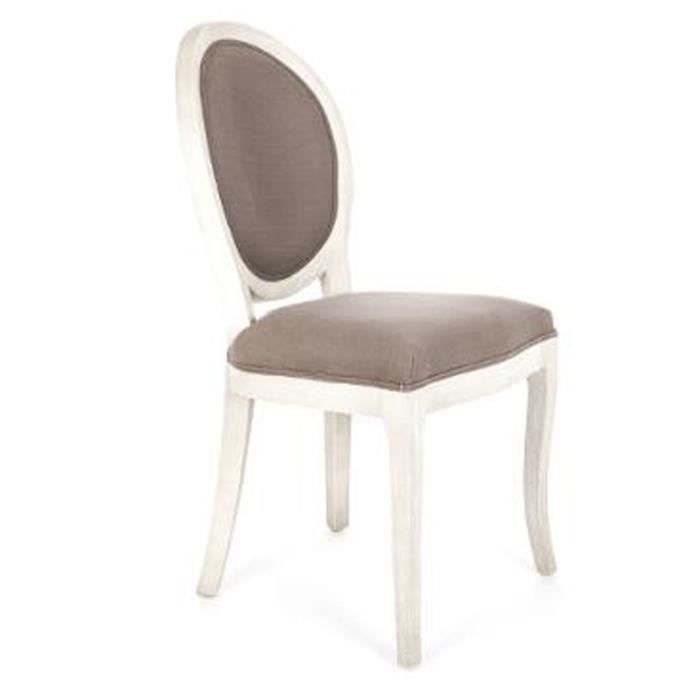 CHAISE Chaise Mdaillon Coloris Taupe