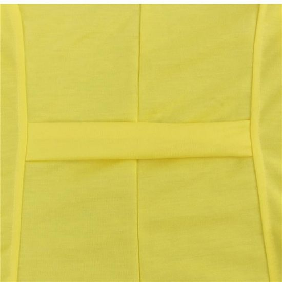 Blazer Dames Veste Femmes Outwear jaune Top Slim Manteau Costume Casual Hauts EpnwqOS