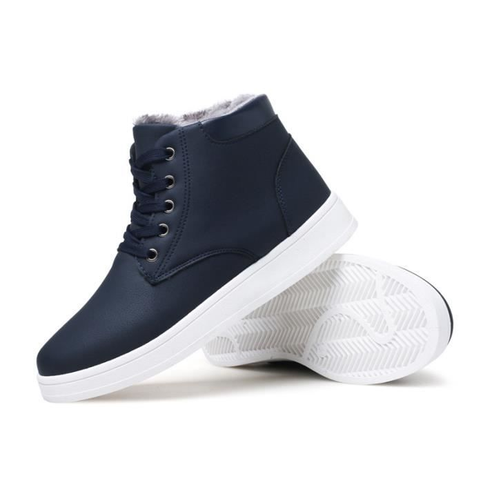 Bottes laine en Ajouter hommes plates Chaussures neige de xxBAqa8