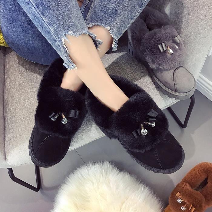Bottes de neige femmes hiver nouvelles femmes & # 39; chaussures en coton femmes enceintes & # 39; chaussures, plus cachemire