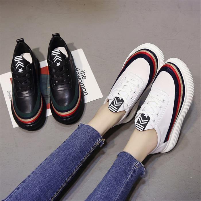 Chaussures Noir 35 39 Mode blanc Durable Classique Femmes Qualité Sneakers Meilleure Beau vIOwnp7Sq