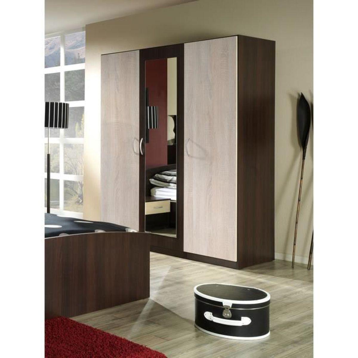 penderie de chambre avec miroir et etageres - achat / vente pas cher