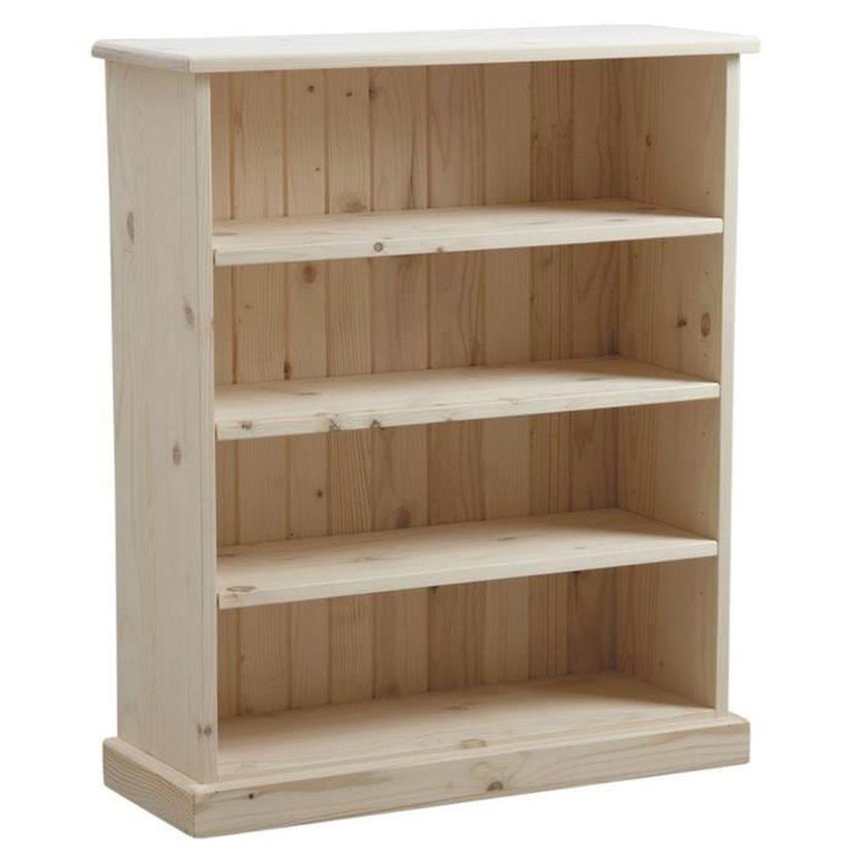 etag re en bois d 39 pic a brut avec 3 tablettes dim 75 x 28 x 90 cm achat vente meuble. Black Bedroom Furniture Sets. Home Design Ideas