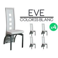 CHAISE Eve - Lot 4 Chaises Blanches