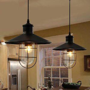 suspension m tal lustre retro verre plafonnier vintage style industriel achat vente. Black Bedroom Furniture Sets. Home Design Ideas