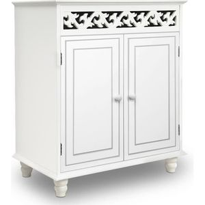 MEUBLE D'ENTRÉE Commode vintage Buffet JERSEY blanc meuble armoire