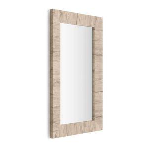 Miroir cadre bois achat vente pas cher for Miroir rectangulaire mural