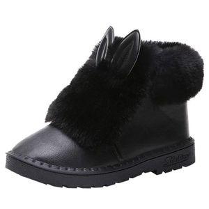 BOTTINE Bottes De Neige Femme Bowtie Boots Epais Fourrure