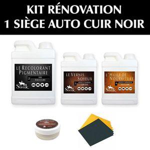 PRODUIT ENTRETIEN CUIR Kit rénovation cuir noir pour un siège automobile. 9a7930c09f1