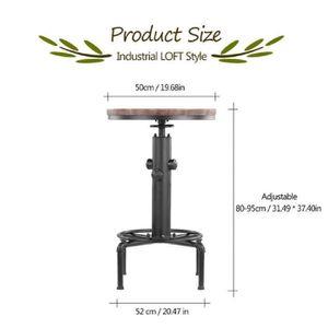 9bbe0c6df89b41 MANGE-DEBOUT iKayaa Table de bar Réglable en hauteur Style indu