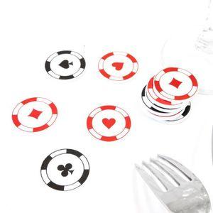 CONFETTIS Lot de 120 Confettis de table jeton casino - diam