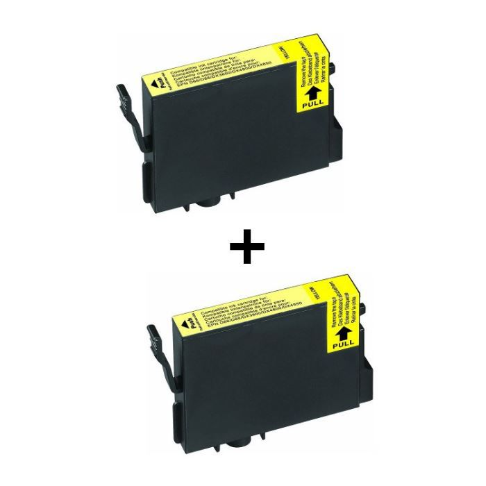 2 cartouches compatibles Epson T061 Jaune