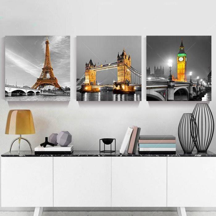 TABLEAU - TOILE Toile sans cadre Peinture 3 pièces imprimées photo
