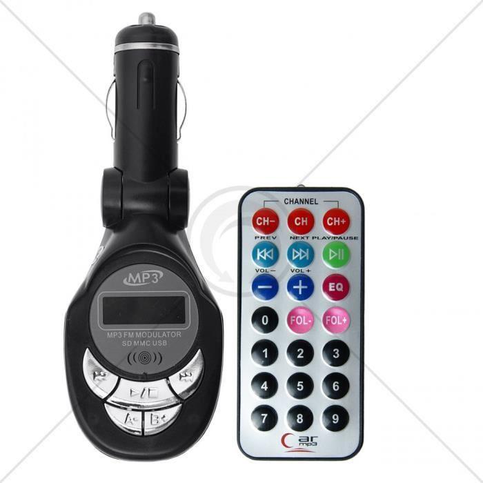 TRANSMETTEUR FM 4 in 1 (slot USB et SD/MMC)