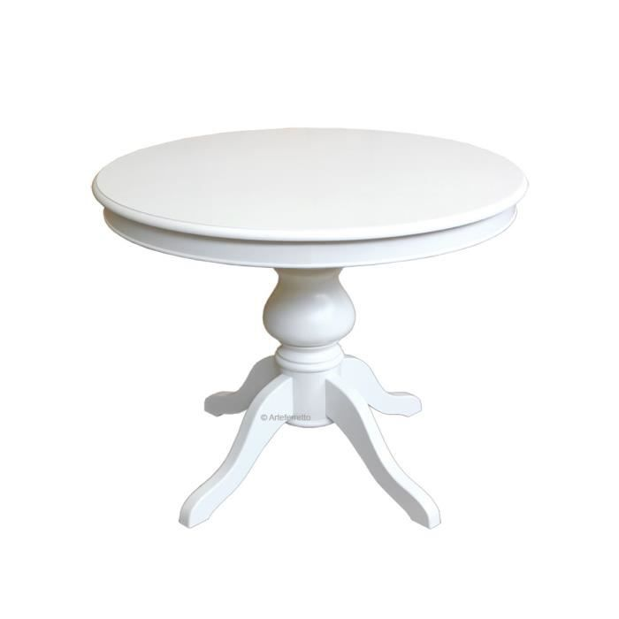 Table extensible ronde 100cm achat vente table - Table ronde extensible pied central ...