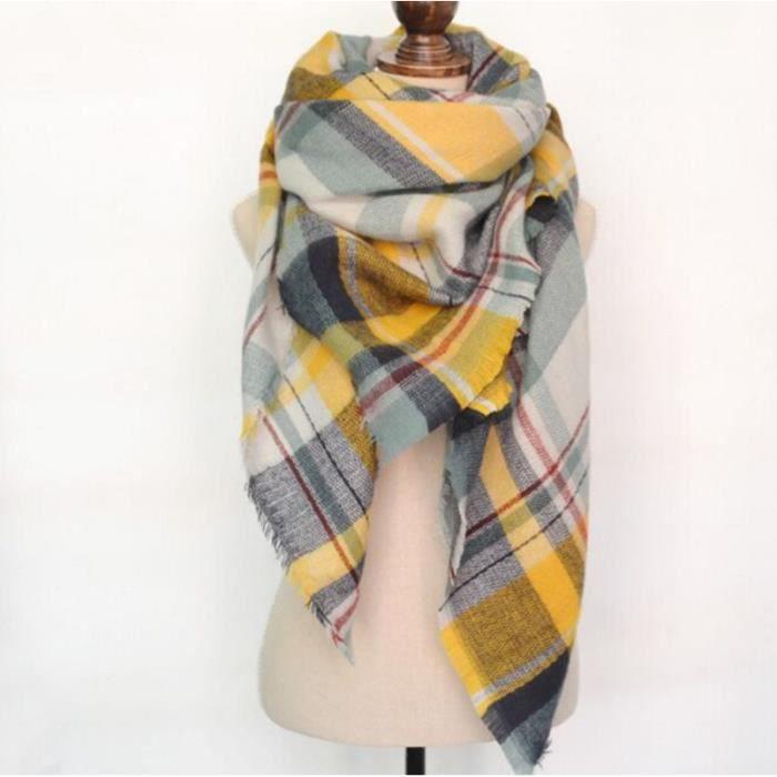 europ en plaid jaune echarpe hiver femme mode automne hiver chaud foulard nouvelle arrivee ch le. Black Bedroom Furniture Sets. Home Design Ideas