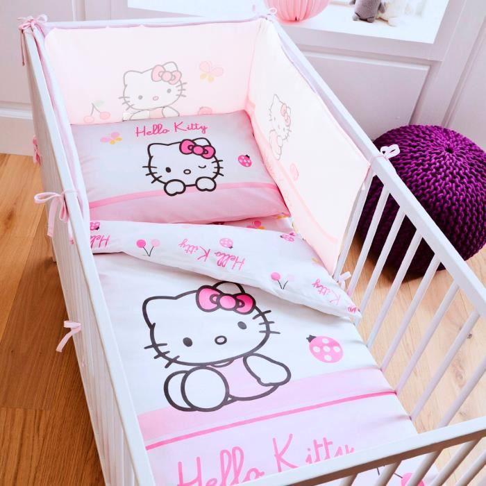 linge de lit enfant hello kitty Parure de lit bébé Hello Kitty Coccinelle.   Achat / Vente parure  linge de lit enfant hello kitty