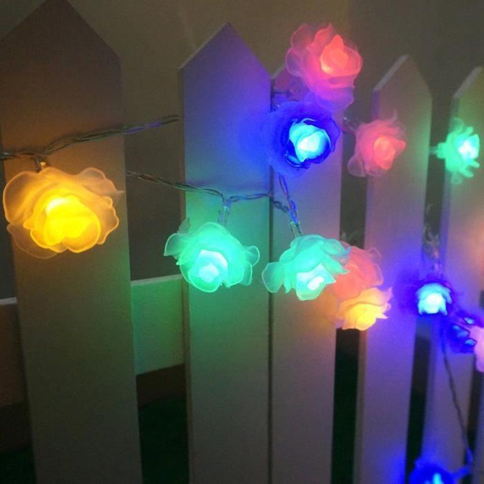 2m Guirlande Lumineuse Veilleuse Nuit Lampe Avec 20 Led Fleur Jardin