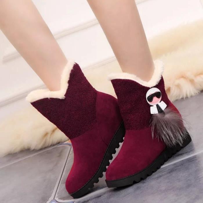 les bottes de neige l'hiver chaud chaussures pl...
