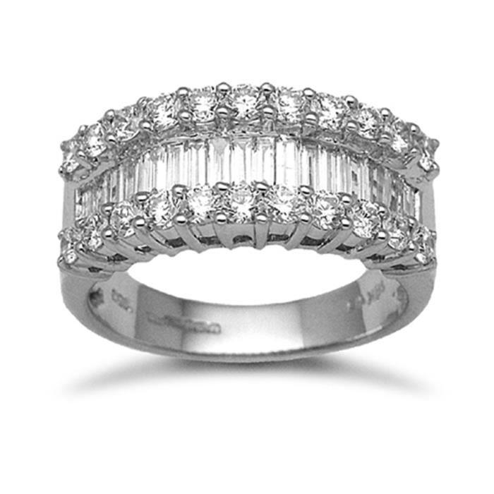 Jewelco London sans-conflit Femmes Solide Or Blanc 18k 4Griffes Rond Brillant G SI Diamant Pont Chic 1.63ct Éternité Bague