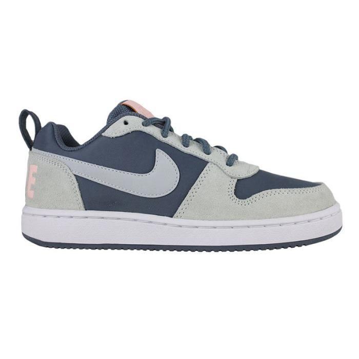 Nike w court borough low prem 861533 400 Bleu - Chaussures Basketball Femme