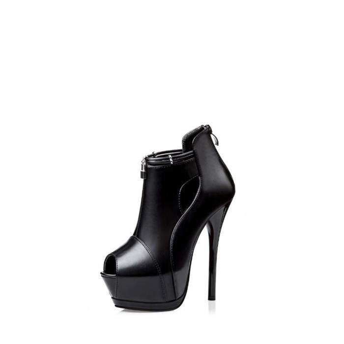 Escarpin Pumpo Chaussures Femmes Solid Color Peep Toe Haute Chaussures à talons mince 12516870