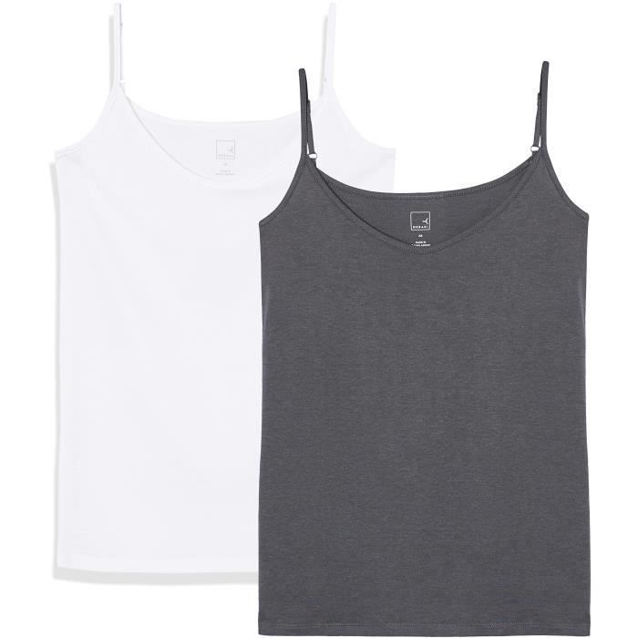 Vest 3bfusp Of Taille 32 Pack Femmes Camisole 2 Xqw745a