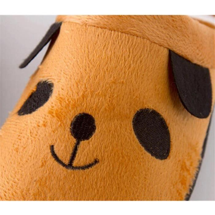 Pantoufles Cartoon Animaux Hiver Chaud Peluche Panda slippers BLLT-XZ037Marron37 eaUubWmHiI