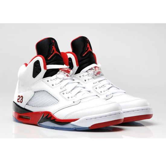 sale retailer 18d50 2a3b7 Nike Air Jordan 5 Retro V 136027-120 FIRE RED 23 white fire red-black - Air  Jordan 100% authentique Rouge rouge - Achat   Vente basket - Cdiscount