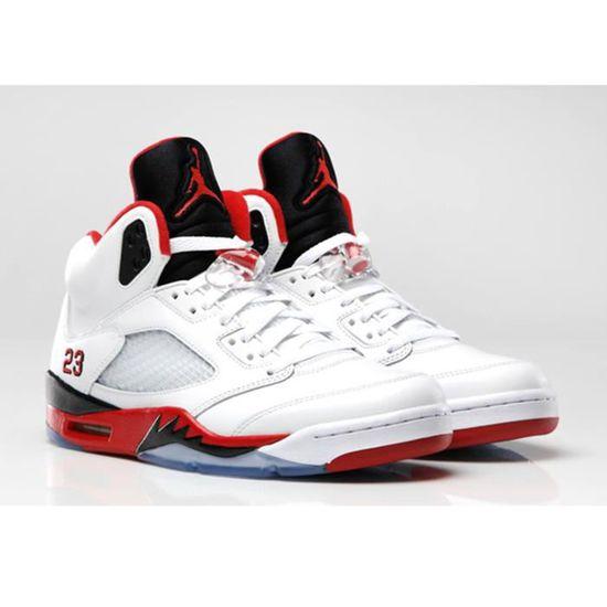 Jordan 23 Whitefire Nike 5 Red 136027 V Air Retro 120 Fire 1FTKJc3l