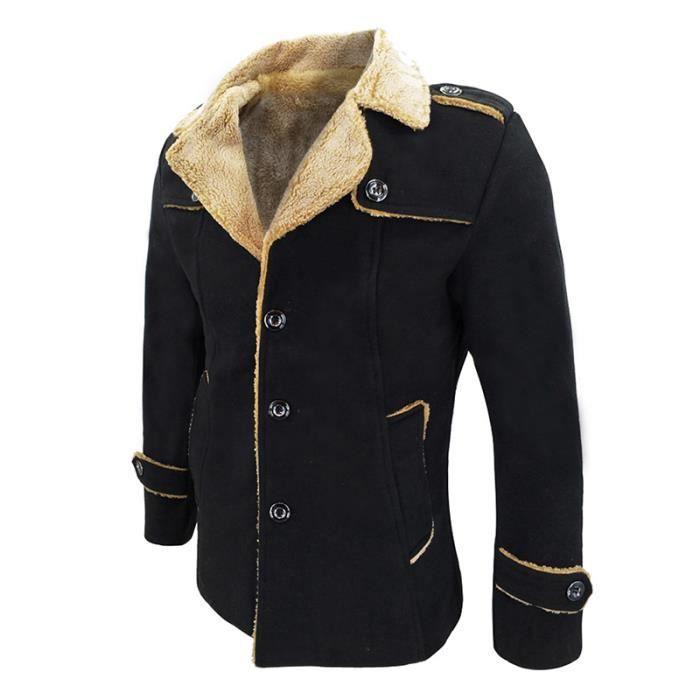 Coupe vent Chauds Manteau noir Plus Court Bleu Vêtement Profond Masculin Hommes claret Velours fwEXXOn5q