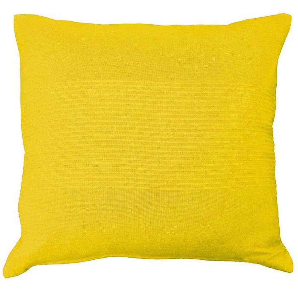 housse de coussin jaune 40 x 40 achat vente housse de coussin jaune 40 x 40 pas cher cdiscount. Black Bedroom Furniture Sets. Home Design Ideas