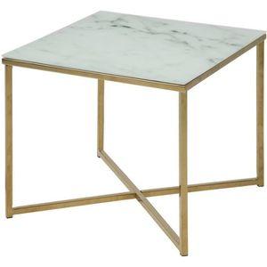 TABLE BASSE ALISMA Table basse carrée style contemporain en ch
