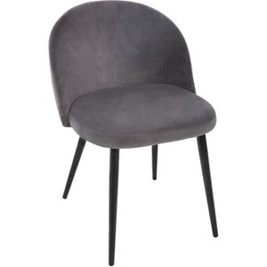 adf3a271f29c7 CHAISE Atmosphera - Chaise velours gris Nael L