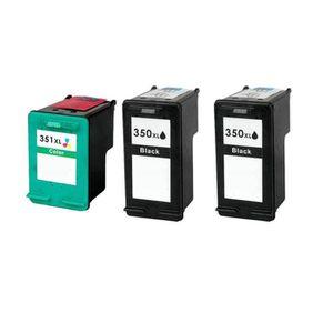 CARTOUCHE IMPRIMANTE 3 Compatible Encre Cartouche pour HP 350 351 Photo