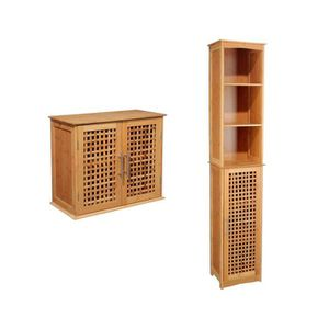 Meuble salle bain bambou - Achat / Vente Meuble salle bain bambou ...