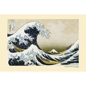 AFFICHE - POSTER Affiche la grande vague de Kanagawa par Hokusai (D