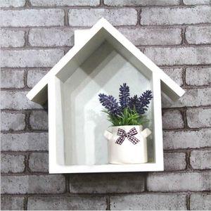 Etagere forme maison achat vente etagere forme maison pas cher cdiscount for Petite etagere murale bois