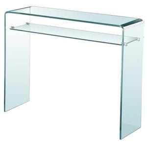 CONSOLE NOAH Console style contemporain en verre trempé tr