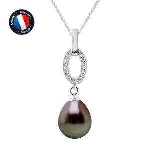 SAUTOIR ET COLLIER Collier Perle de Culture de Tahiti Poire 8-9 mm -