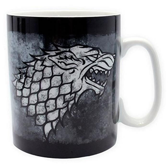 Mug Games Of Thrones - 460 ml - Stark - porcl. avec boîte - ABYstyle