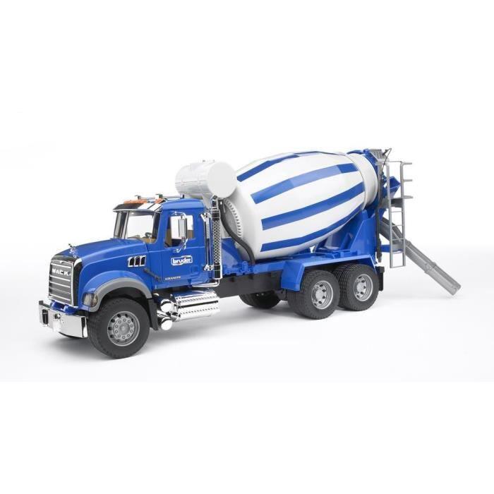 BRUDER - 2814 - Camion toupie a beton MACK - Garçon - A partir de 3 ans - Livré à l'unitéVEHICULE MINIATURE ASSEMBLE - ENGIN TERRESTRE MINIATURE ASSEMBLE