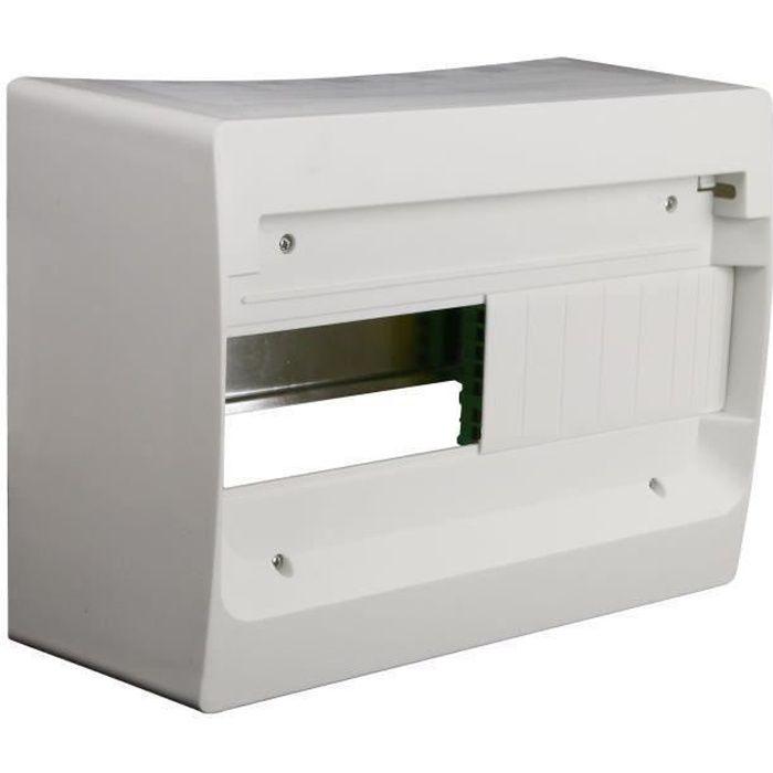 ZENITEC Coffret électrique nu à équiper 1 rangée 13 modules blanc